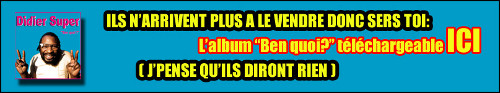 Didier Super offre son album