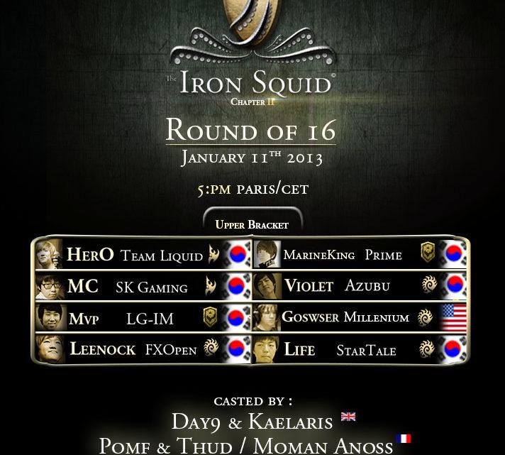 Iron Squid 2 : Huitièmes de Finale (1er jour)