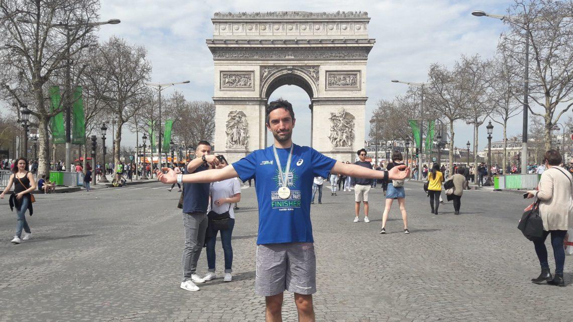 C'est mon deuxième marathon et c'était à Paris